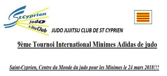 9ème tournoi international minimes Adidas de judo
